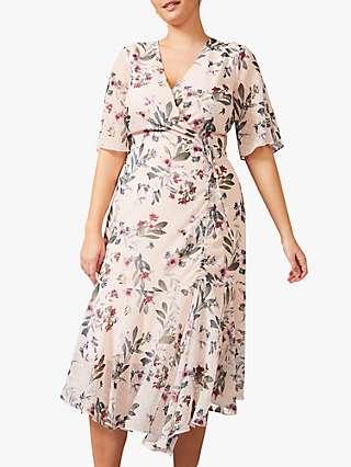 Studio 8 Wendy Floral Wrap Dress, Blush/Multi