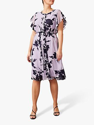 Studio 8 Aiden Floral Printed Knee Length Dress, Purple