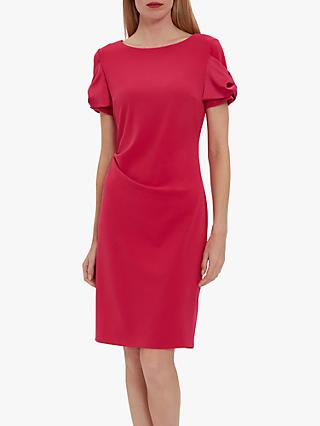 Gina Bacconi Risa Crepe Satin Bow Dress