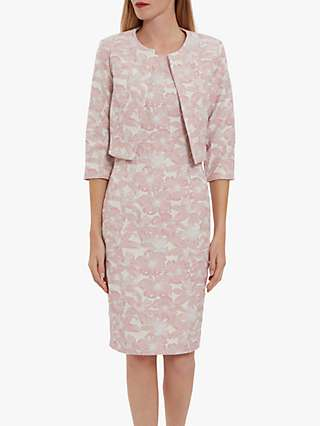 Gina Bacconi Genesia Jacquard Sheath Dress and Bolero, Pink