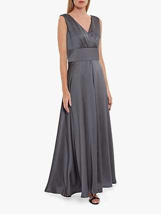 Gina Bacconi Scotia Satin Maxi Dress