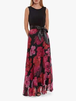 Gina Bacconi Ariella Jersey Maxi Dress, Black