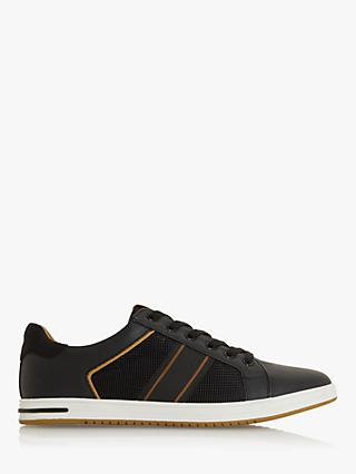 Dune True Stripe Panel Trainers, Black