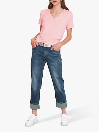 hush Cali Organic Cotton V-Neck T-Shirt, Rose Shadow