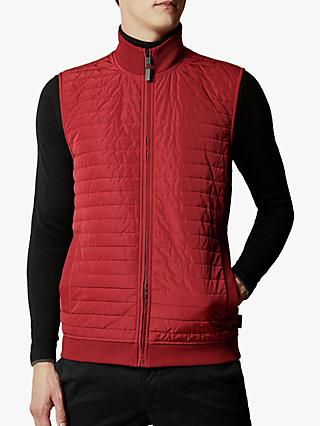 Ted Baker Rapids Quilted Jersey Gilet, Red