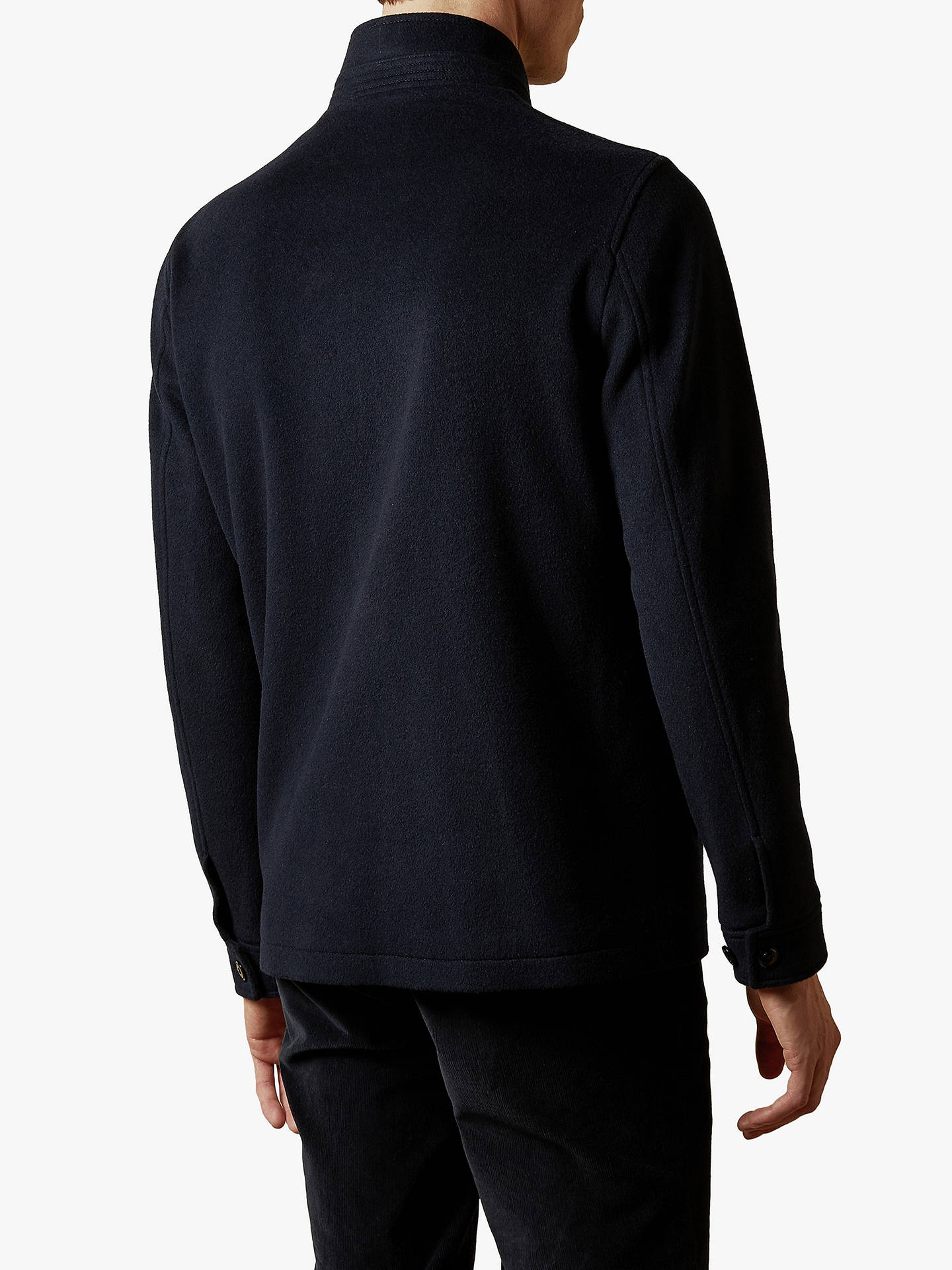 Buy Ted Baker Anglo Funnel Neck Jacket, Navy, XS Online at johnlewis.com