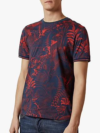 Ted Baker Tresure Floral Graphic T-Shirt, Navy