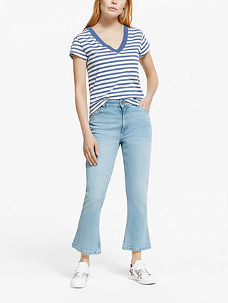 Buy AND/OR California Kick Flare Jeans, Summer Sky, 24R Online at johnlewis.com