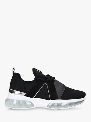 Carvela Lament Bubble Lace Up Trainers, Black