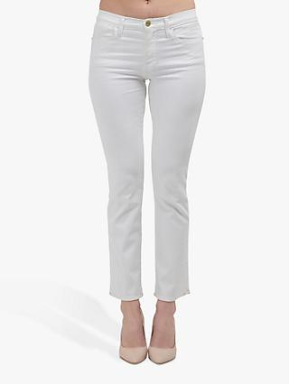 FRAME Le High Straight Leg Jeans, Blanc