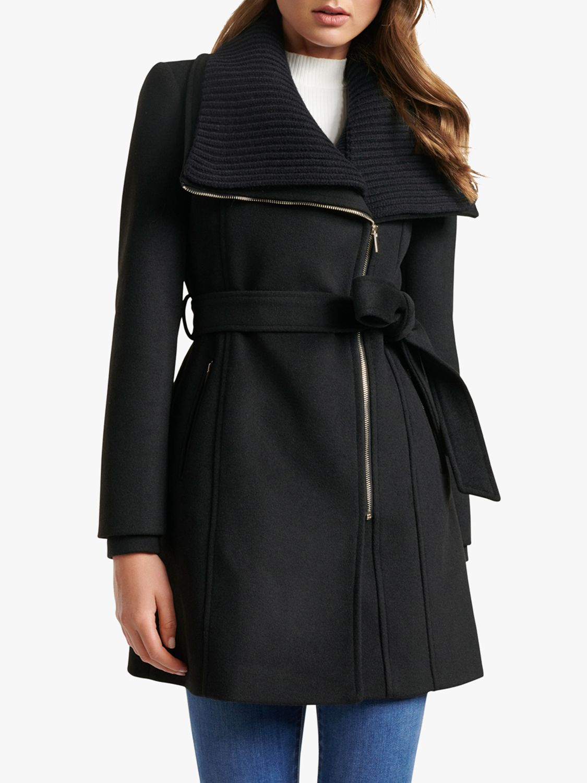 Forever New Forever New Penny Biker Coat, Black