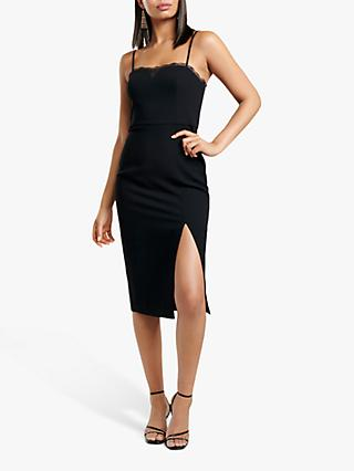 Forever New Ellyse Lace Pencil Dress, Black