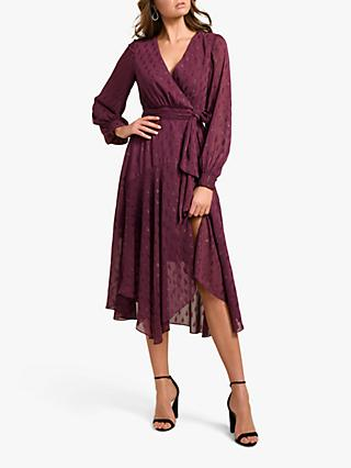 Forever New Jojo Metallic Dress, Plum