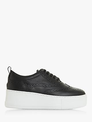 Dune Fonda Leather Flatform Brogue Trainers