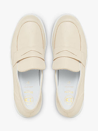 Buy Dune Gleem Leather Flatform Loafers, Ecru, 3 Online at johnlewis.com
