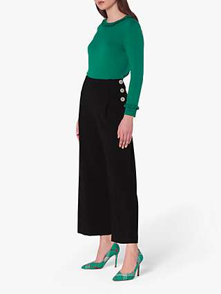 L.K.Bennett Prince Wide Leg Trousers, Black