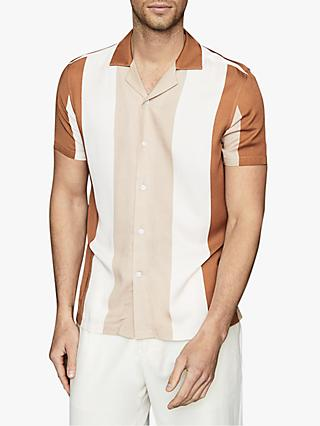 Reiss Alvin Cuban Collar Stripe Shirt