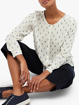 White Stuff Lucy Shirt, White Print