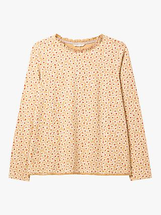 White Stuff Effie Floral Slub Jersey Tee, Yellow Print
