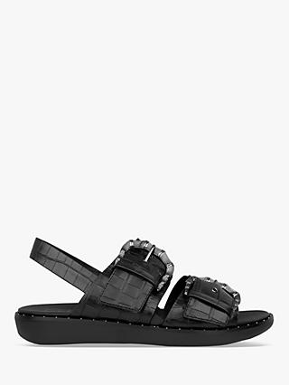 FitFlop Kaia Croc Print Leather Slides