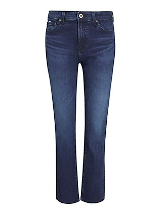 AG The Mari High Rise Slim Straight Leg Jeans, Valiant