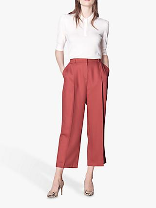 L.K.Bennett Irene Cropped Trousers, Red-Clay