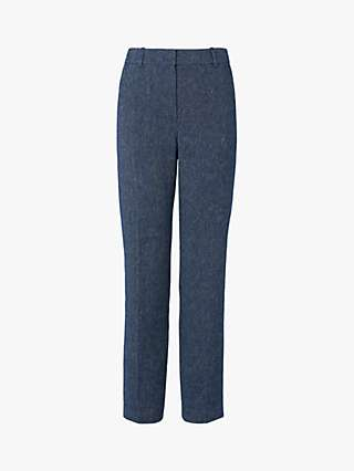L.K.Bennett Wilson Trousers, Blue Denim