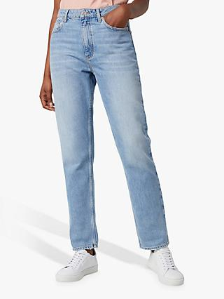 French Connection Palmira Straight Leg Jeans, Light Blue