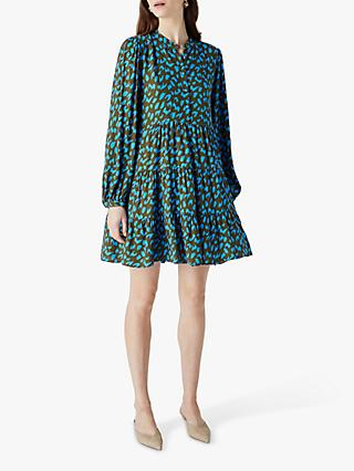 Finery Victoria Leopard Mini Dress, Multi