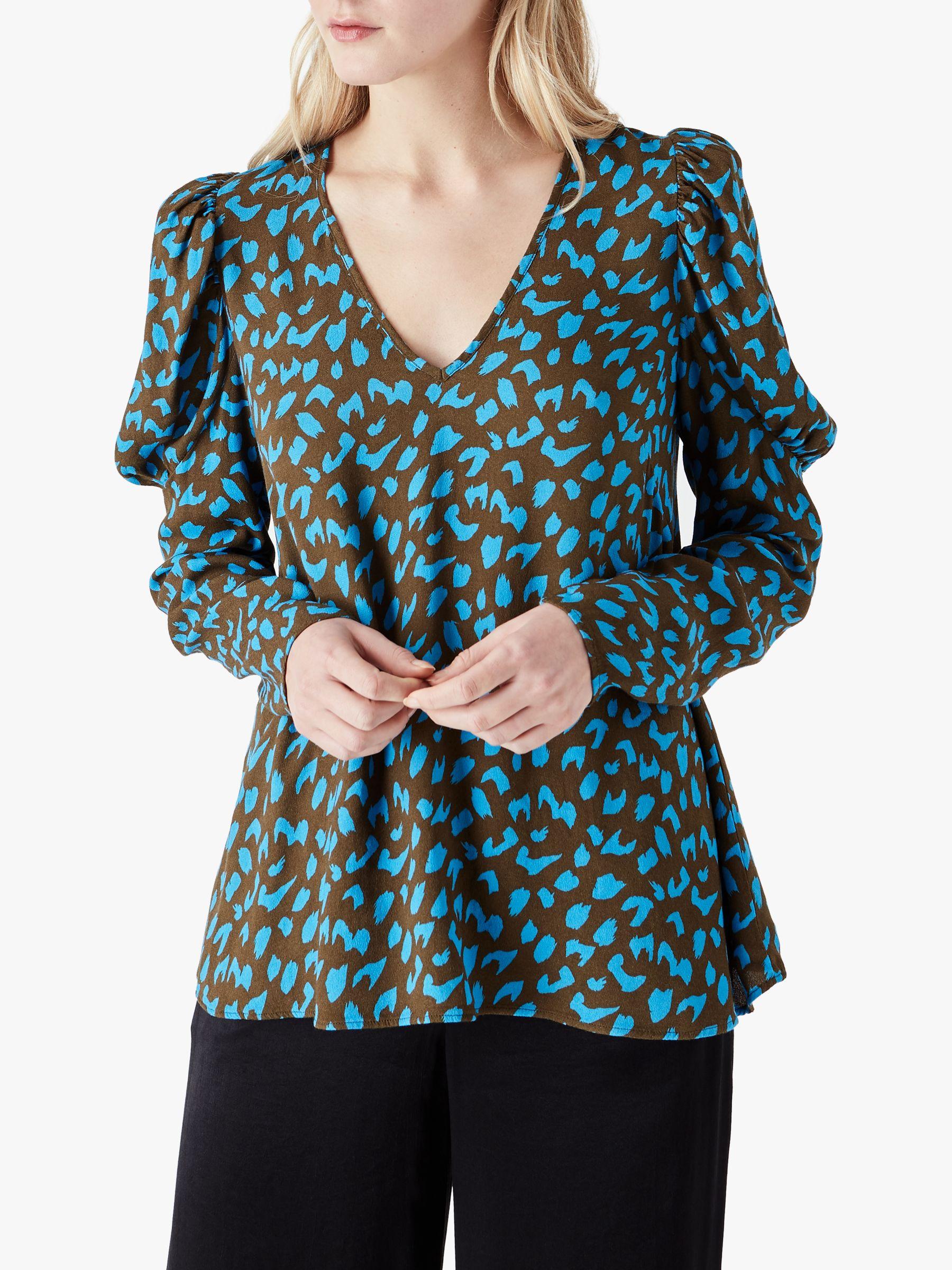 Finery Finery Lena Leopard Print Top, Multi