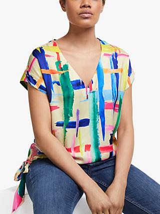 Essential Antwerp Short Sleeved Paint Brush Print Top, Multi