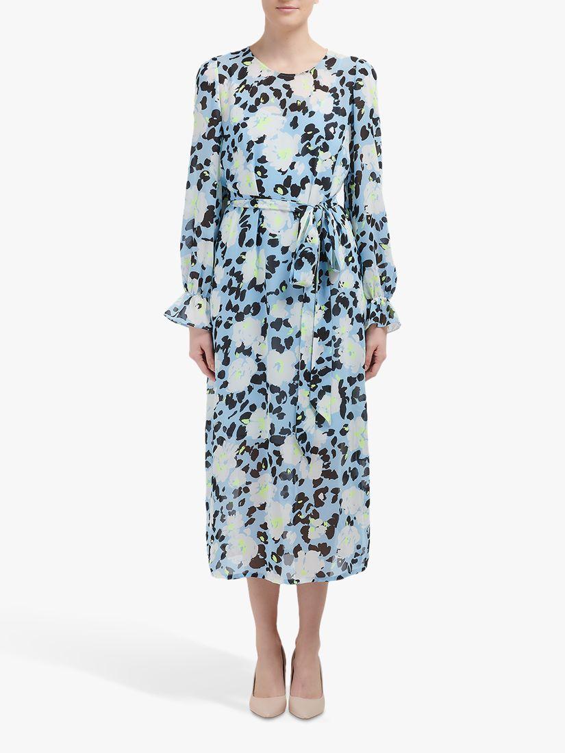 Essentiel Antwerp Essentiel Antwerp Long Floral Dress, Trinidad Blue/Multi