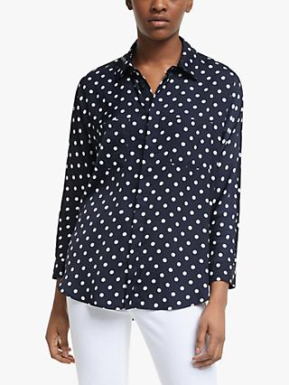 Essentiel Antwerp Polka Dot Shirt, Vapour Blue