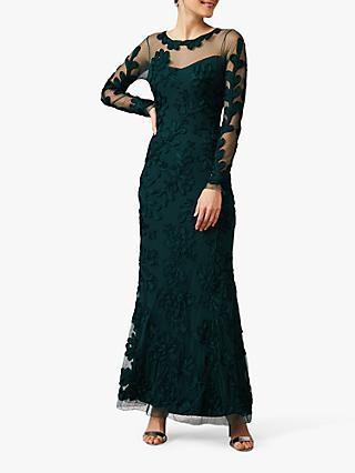 Phase Eight Lorie Tapework Dress, Jade