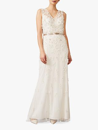 Phase Eight Frida Sleeveless Applique Wedding Dress, Ivory
