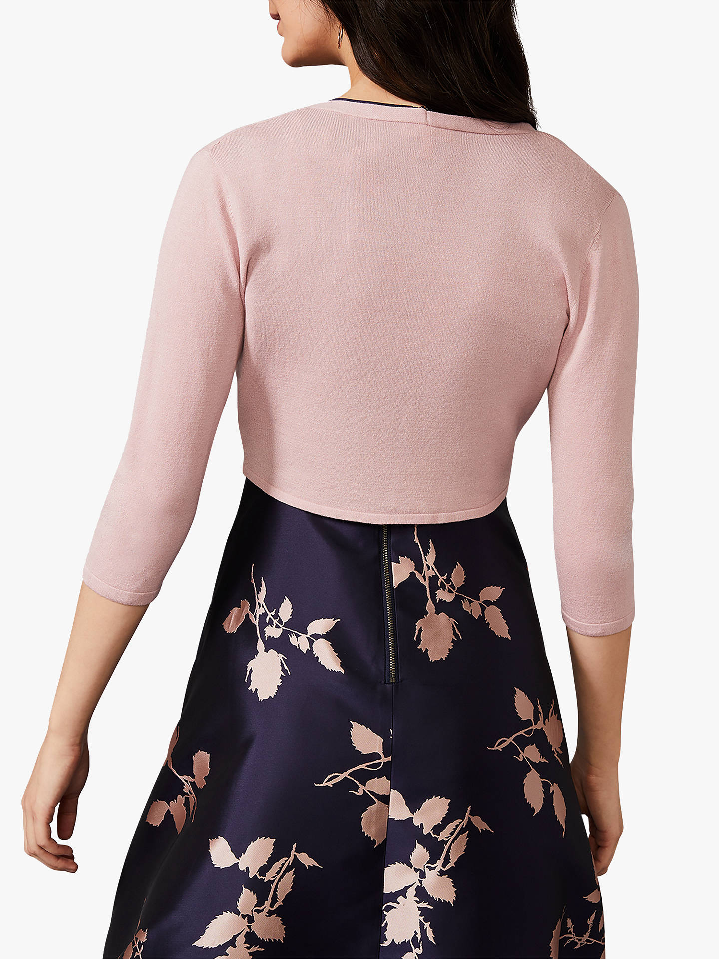 Buy Phase Eight Ana Tie Front Cover Up, Pink, 8 Online at johnlewis.com