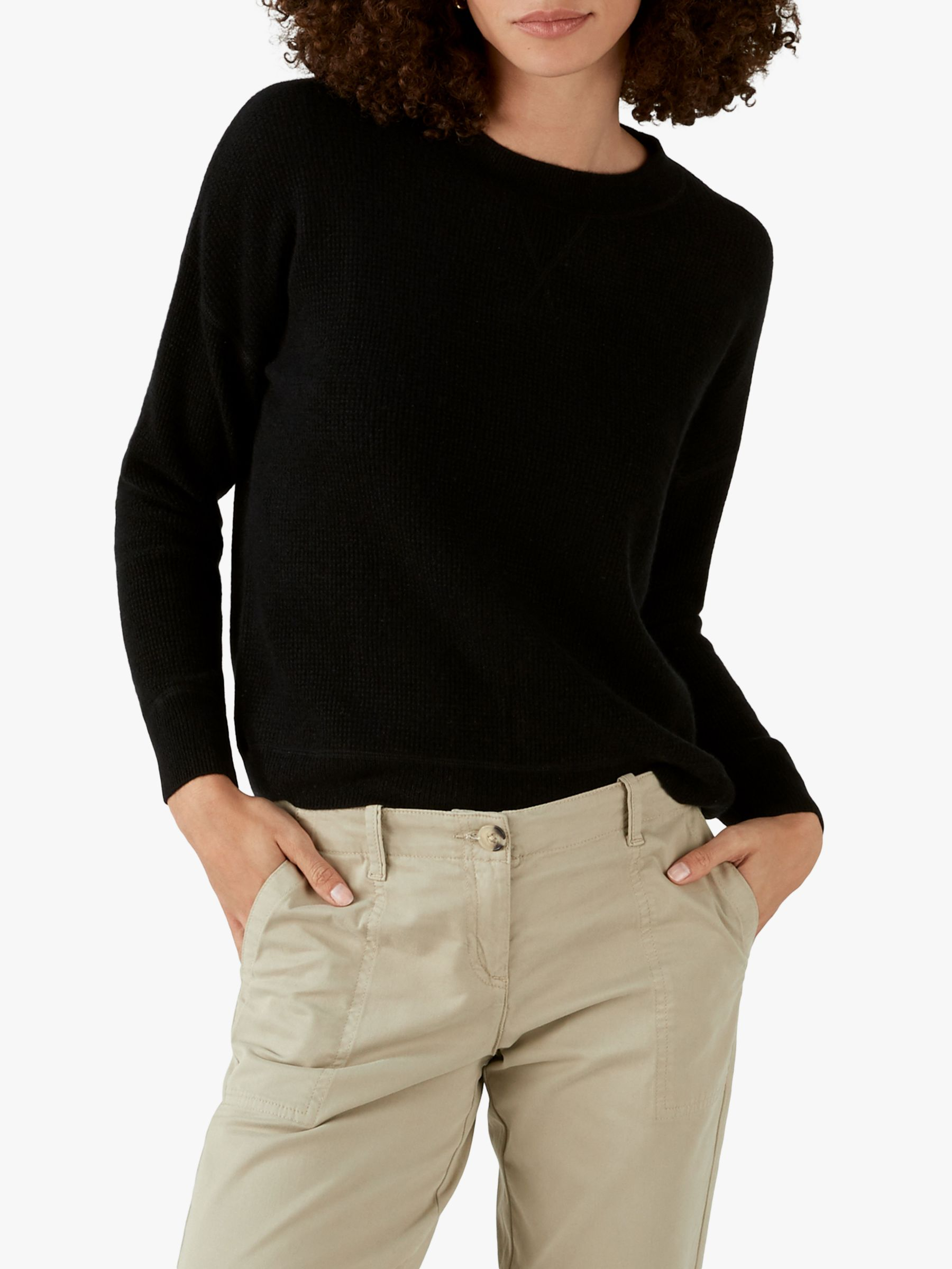Pure Collection Pure Collection Cashmere Textured Knit Sweatshirt