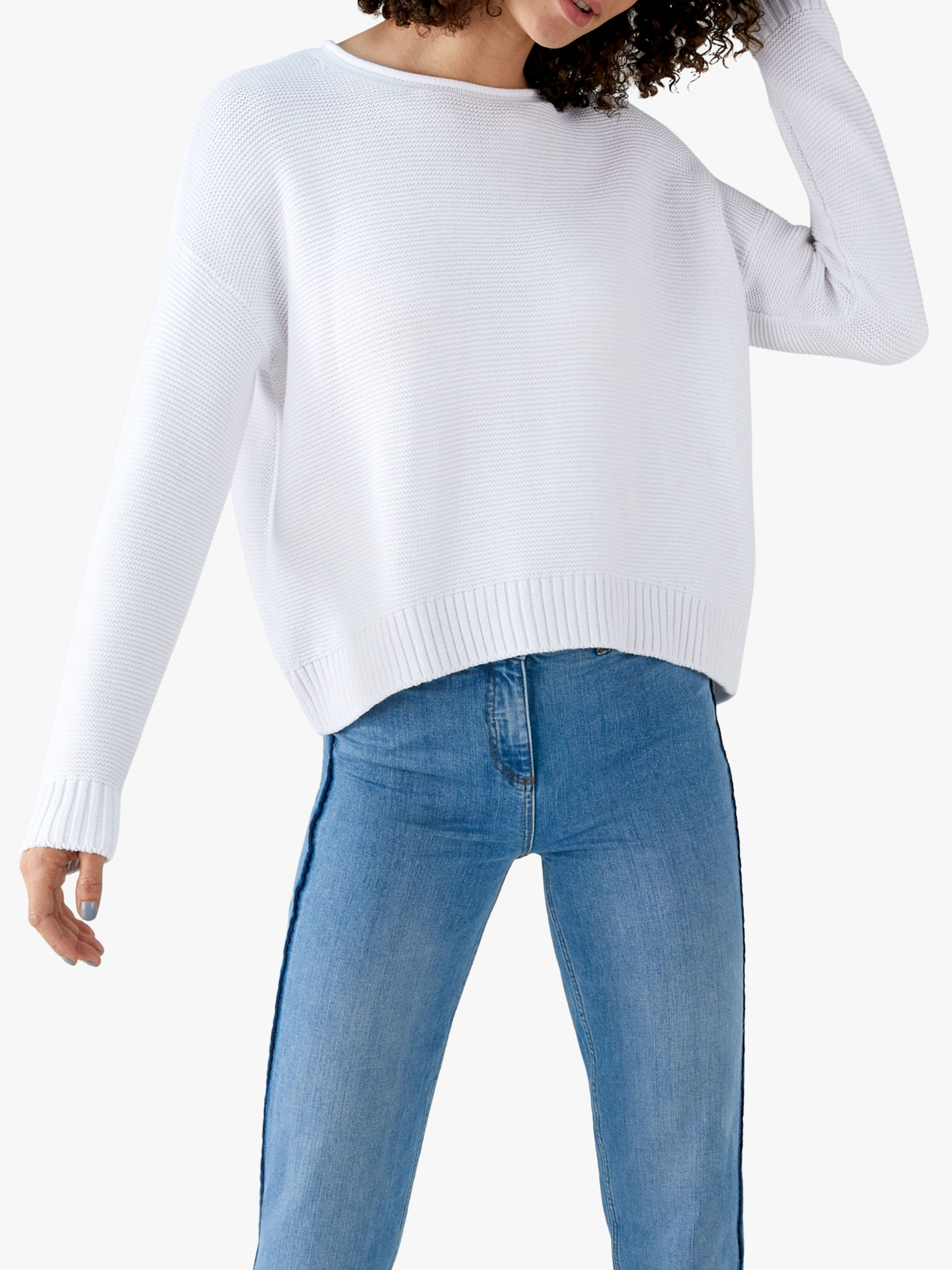 Pure Collection Pure Collection Dipped Hem Sweater