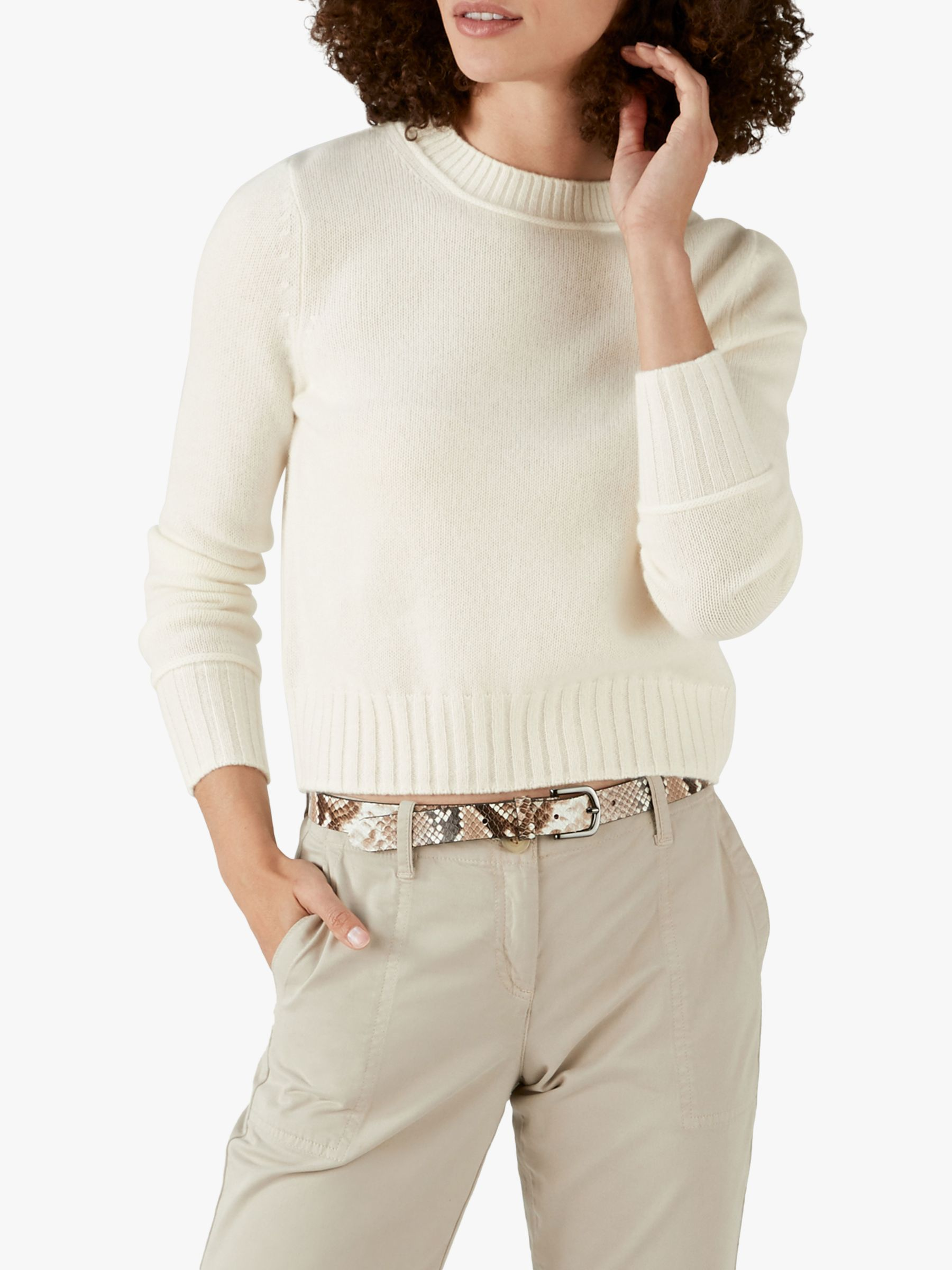 Pure Collection Pure Collection Cashmere Lofty Cropped Sweater
