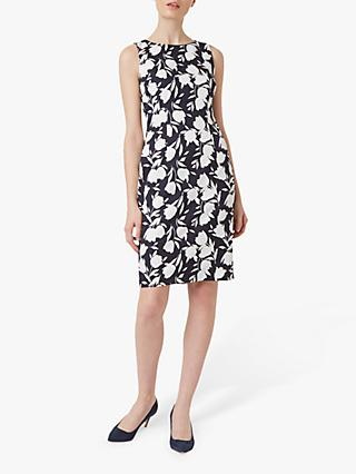 Hobbs Moira Floral Print Dress, Midnight/Ivory