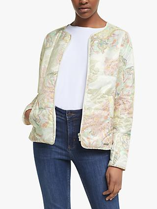 Ilse Jacobsen Hornbæk Paisley Padded Jacket, White Sugar