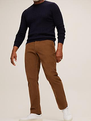 John Lewis & Partners Needle Cord Slim Fit Trousers