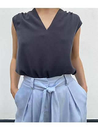 Modern Rarity V-Neck Sleeveless Silk Top