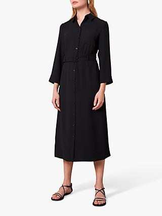 Jaeger Crepe Belted Shirt Dress