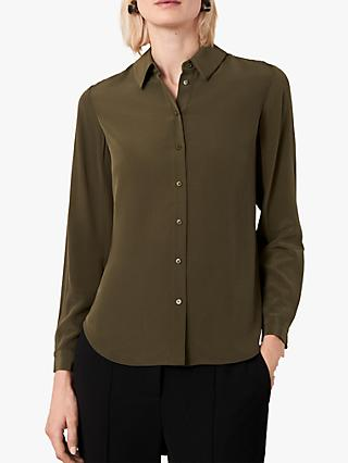 Jaeger Washable Silk Shirt, Khaki