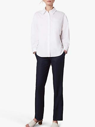 Jaeger Oversized Cotton Shirt, White