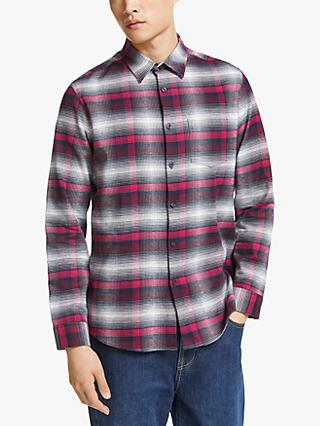 Kin Ombre Check Regular Fit Shirt, Pink/Multi