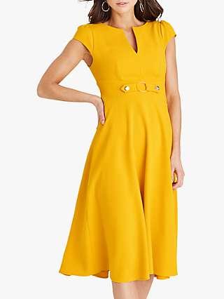 Damsel in a Dress Tilly Midi Flare Dress, Yellow