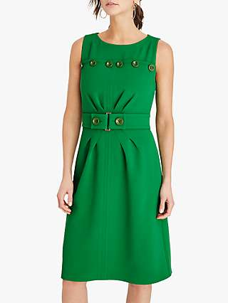 Damsel in a Dress Vali Button Midi Dress, Green