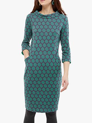 White Stuff Rene Cowl Neck Dress, Glassy Teal